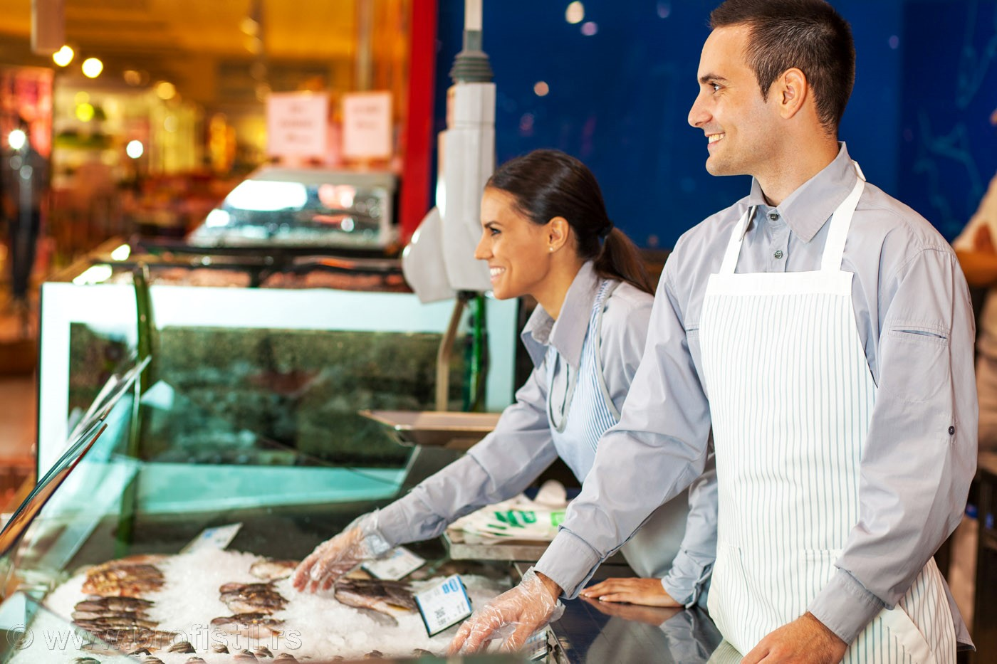 Radne uniforme za ribarnice,mesare i markete