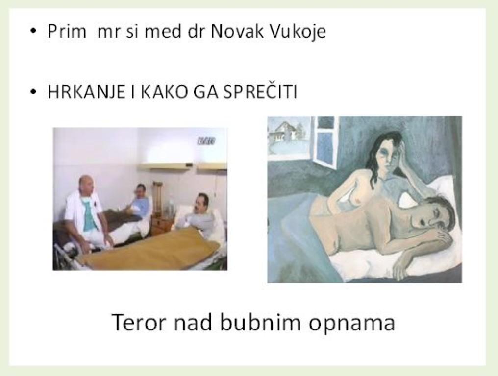 Predavanja - Dr. Novak Vukoje